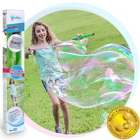 WOWmazing Giant Bubble Kit: Big Bubble Wand & Concentrate