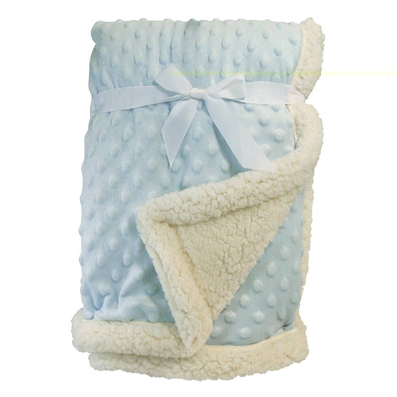 Sherpa Back Bumpy Blanket | Blue