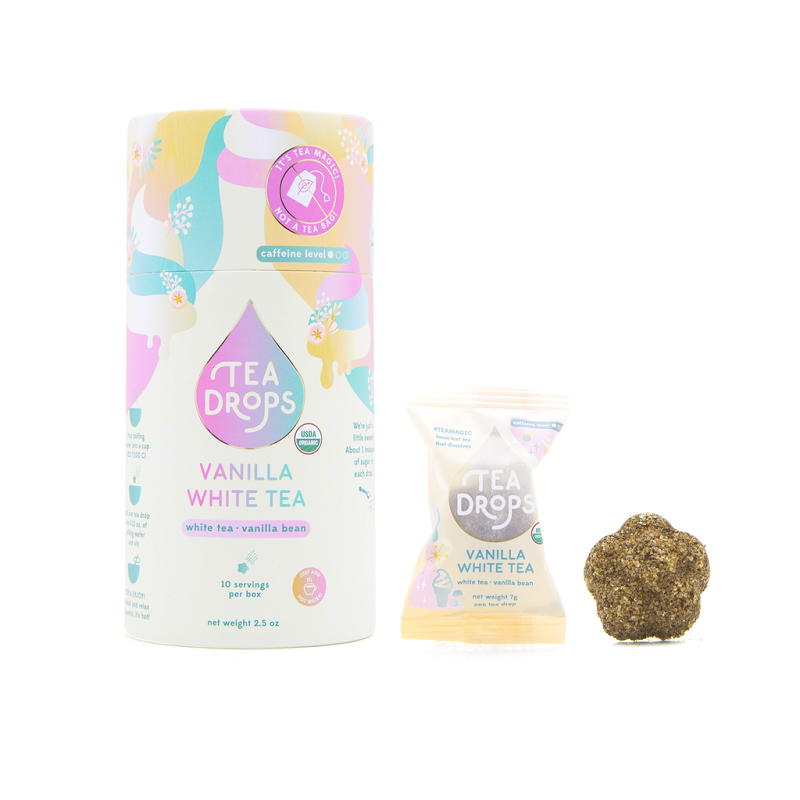 Tea Drops Cylinder | Vanilla White Tea