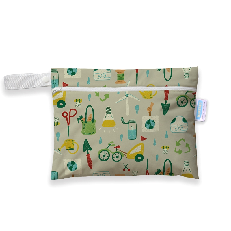 Mini Wet Bag | Green Scene