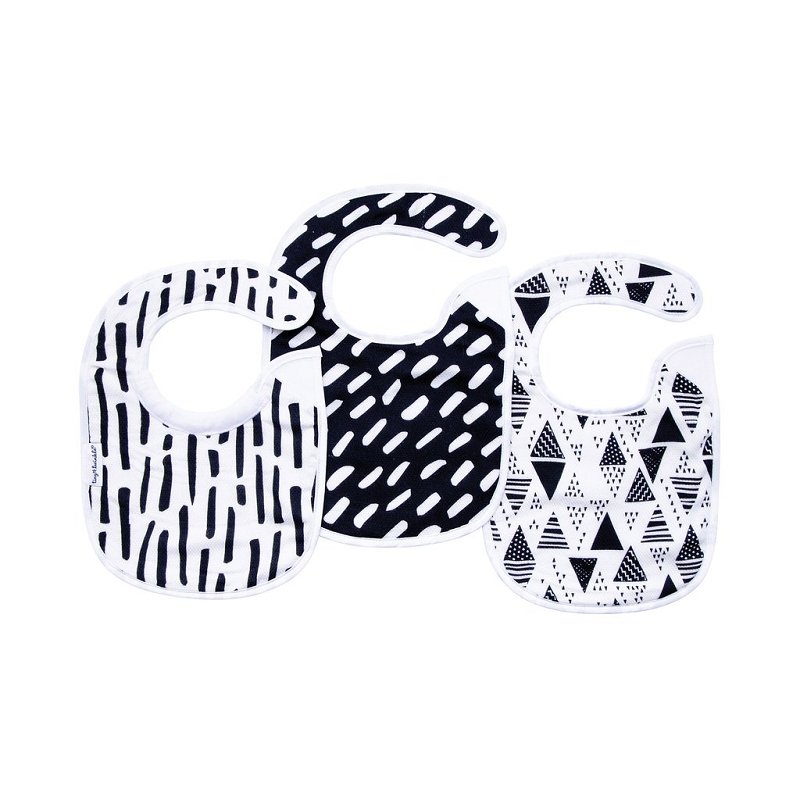 Kaffle Feeding Bib | Black & White
