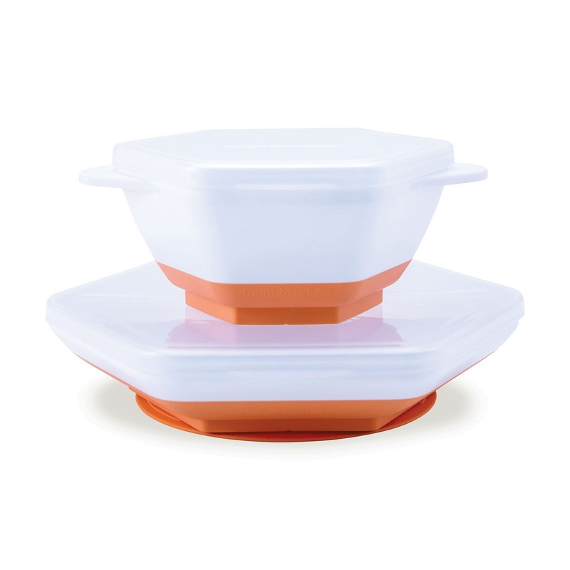 Grow with Me 5 pc Dish Set | Coral