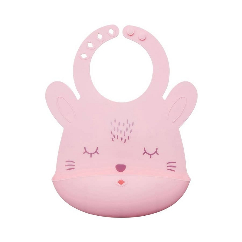 Silicone Roll-up Bib | Rose Bunny