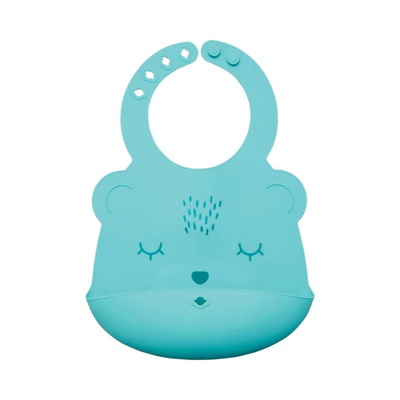 Silicone Roll-up Bib | Mint Bear