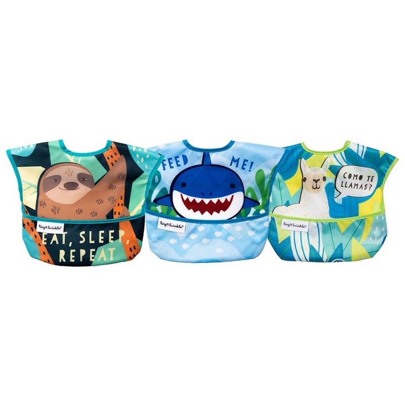 Mess-proof Easy Bib 3 pk | Animals