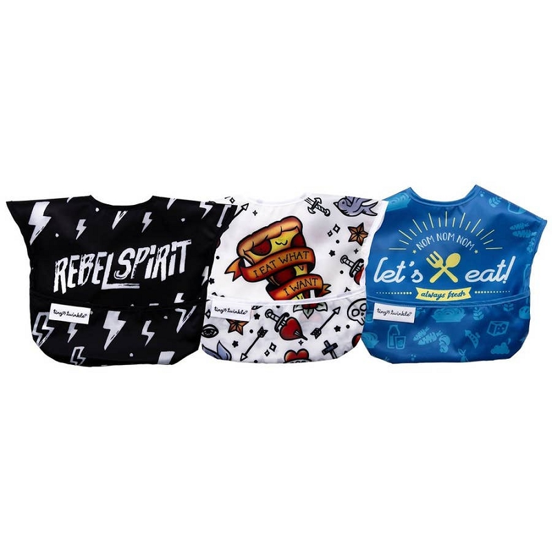 Mess-proof Easy Bib 3 pk | Rebel