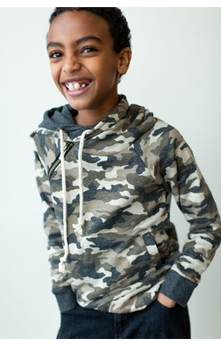 Youth Doublehood Sweatshirt - Camo