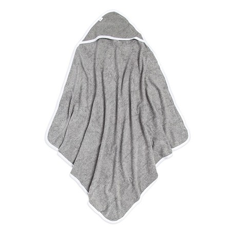 Solid Hooded Towel | Heather Grey