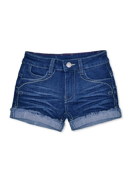 Girls Cuffed Denim Shorts