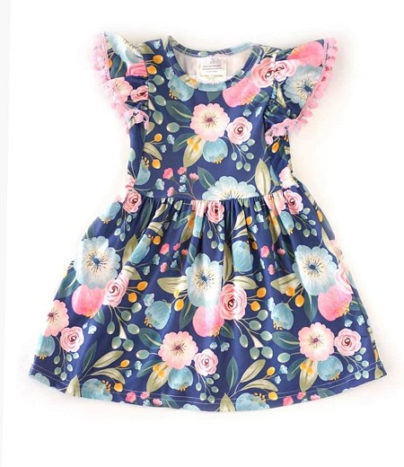 Spring Blossoms Flutter Dress