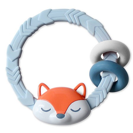 Silicone Teething Rattle | Fox