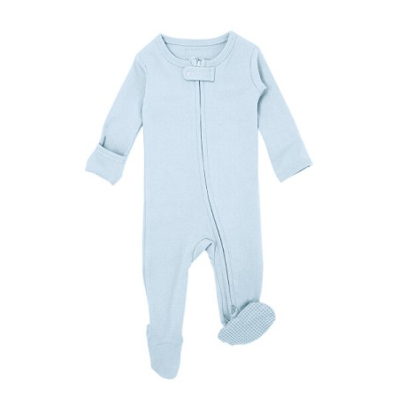 Organic Zipper Footie | Moonbeam