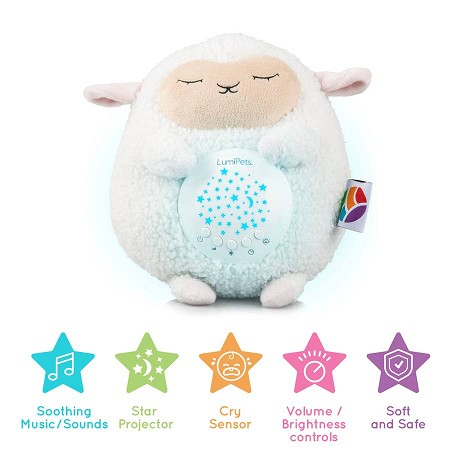LumiPets Plush Sound Soother | Lamb