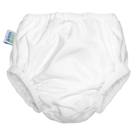 Reusable Swim Diaper | White