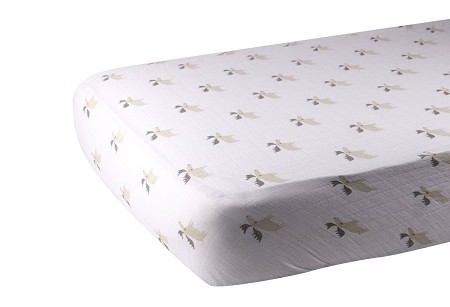 Muslin Fitted Crib Sheet | Mister Moose