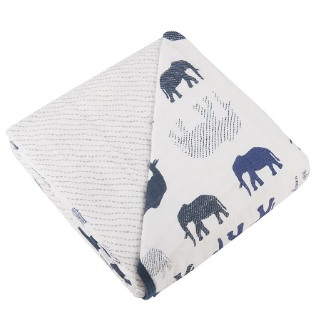 Sweet Dream Blanket | Blue Elephant & Spotted Wave