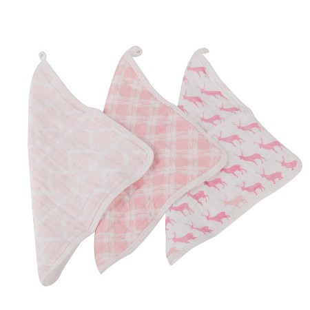 Muslin Washcloth Set | Pop of Pink