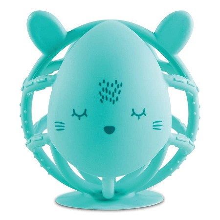 Bunny Silicone Teether | Mint